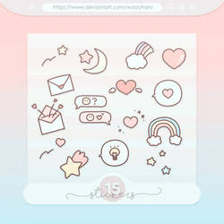#36 PNG STICKERS PACK [Random Pastel Stickers]