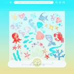 #43 PNG STICKERS PACK [Sea Themed]
