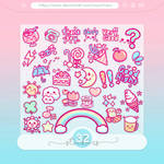 #45 PNG STICKERS PACK [Random]