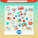 #57 PNG STICKERS PACK [Kidcore Doodles]