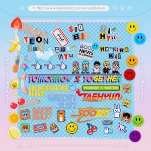 Album Artwork PNGs [TXT - Minisode 1 Blue Hour]