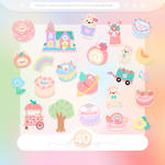 #70 PNG STICKERS PACK [Pastel and Peachy]
