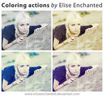 Coloring actions