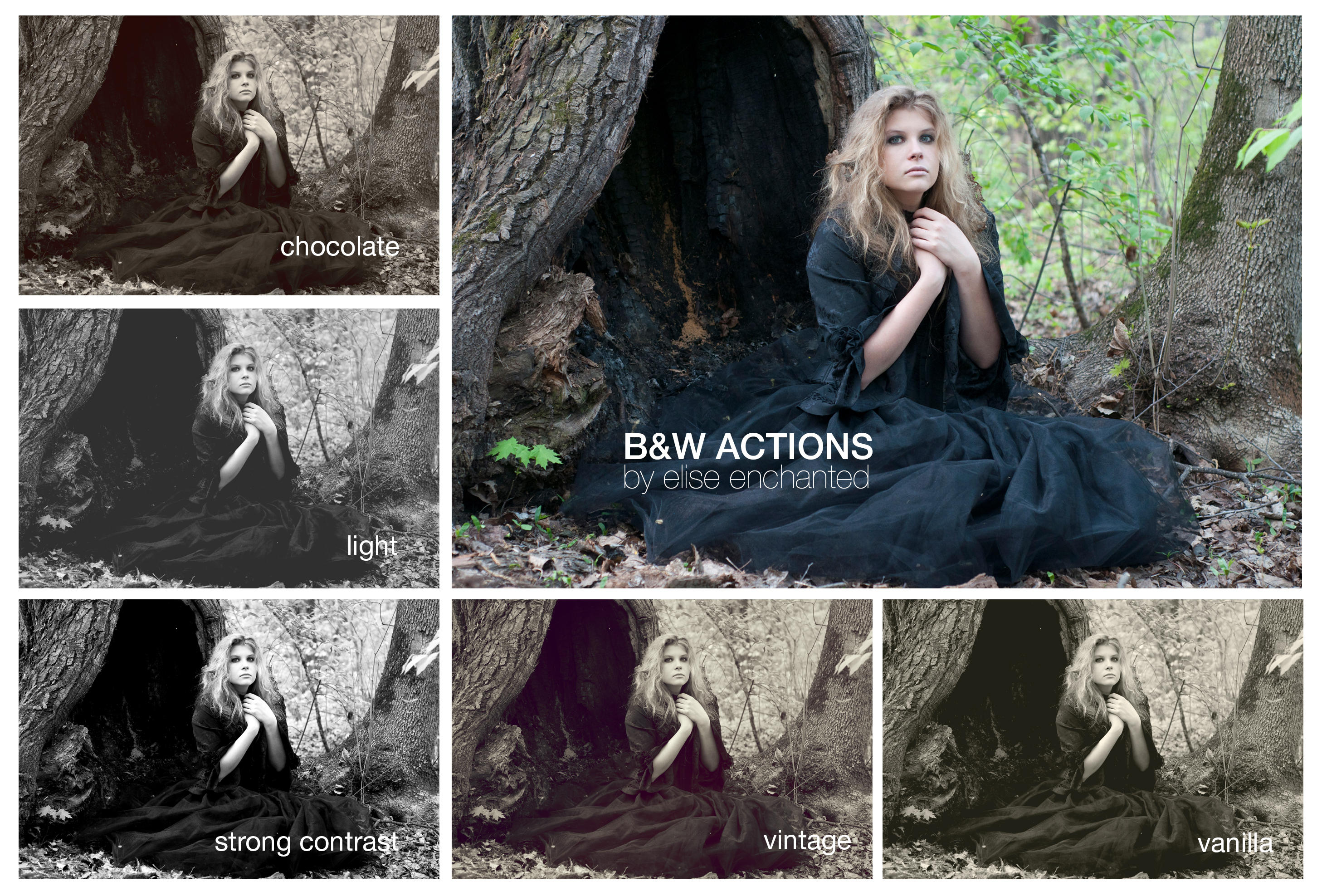 B/W actions by EliseEnchanted