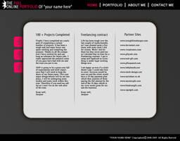 Free Portfolio Template by An1ken