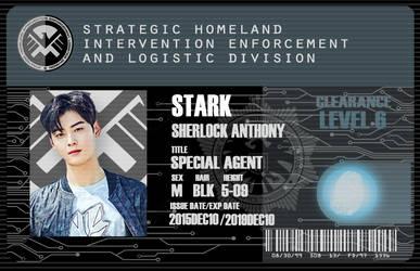 S.H.I.E.L.D I.D template PSD