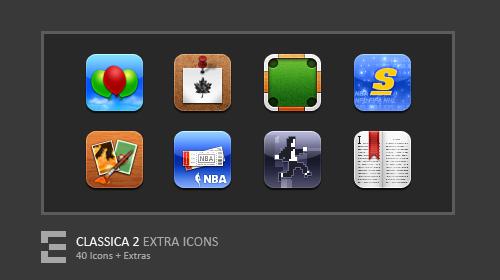 Classica 2 Extra Icons by kawsone