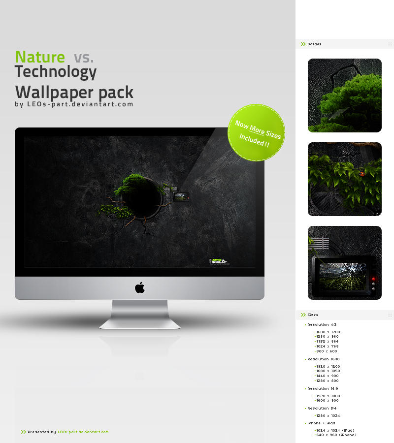 Nature vs. Technology Wall. by LEOs-part