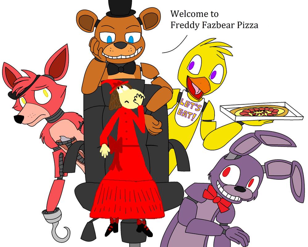 Sparkest25 Meets Freddy Fazbear And Friends. By Sparkest25