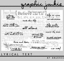 Lyrical Text by candycrack