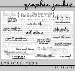 Lyrical Text