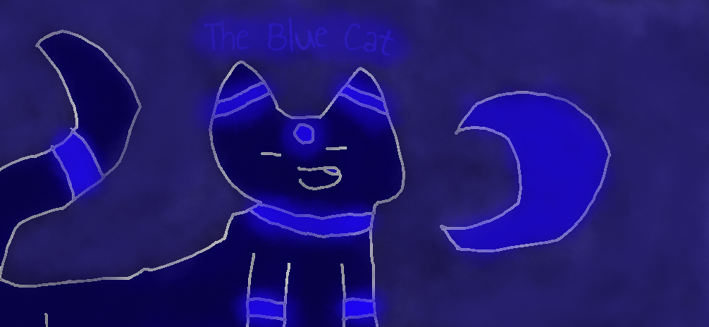 The Blue Cat by Pikachulover22477