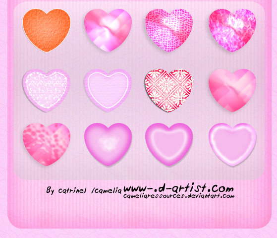 Pink photoshop layer styles 1 by cameliaRessources