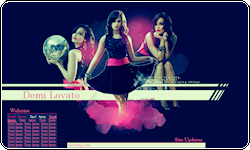 Demi Lovato Coded Layout by vintagevic