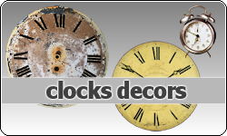 Clocks Decors by vintagevic