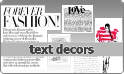 Text Decor by vintagevic