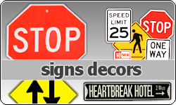 Street Signs Decors by vintagevic
