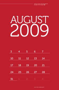 August 09 Calendar