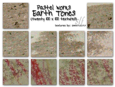 TEXTURES Pastel: Earth Tones by sweetlilfly