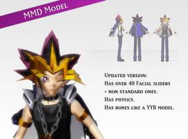 MMD Yu-Gi-Oh! Yami model by Yuzo-MMD