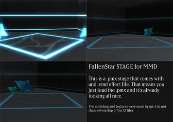 FallenStar Stage for MMD by Yuzo-MMD