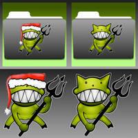 Demonoid + Demonoid Christmas Icons by stumpy666davies