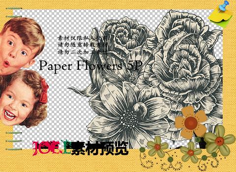 Joe.l's png - Paper Flowers 5P by joe-lashin