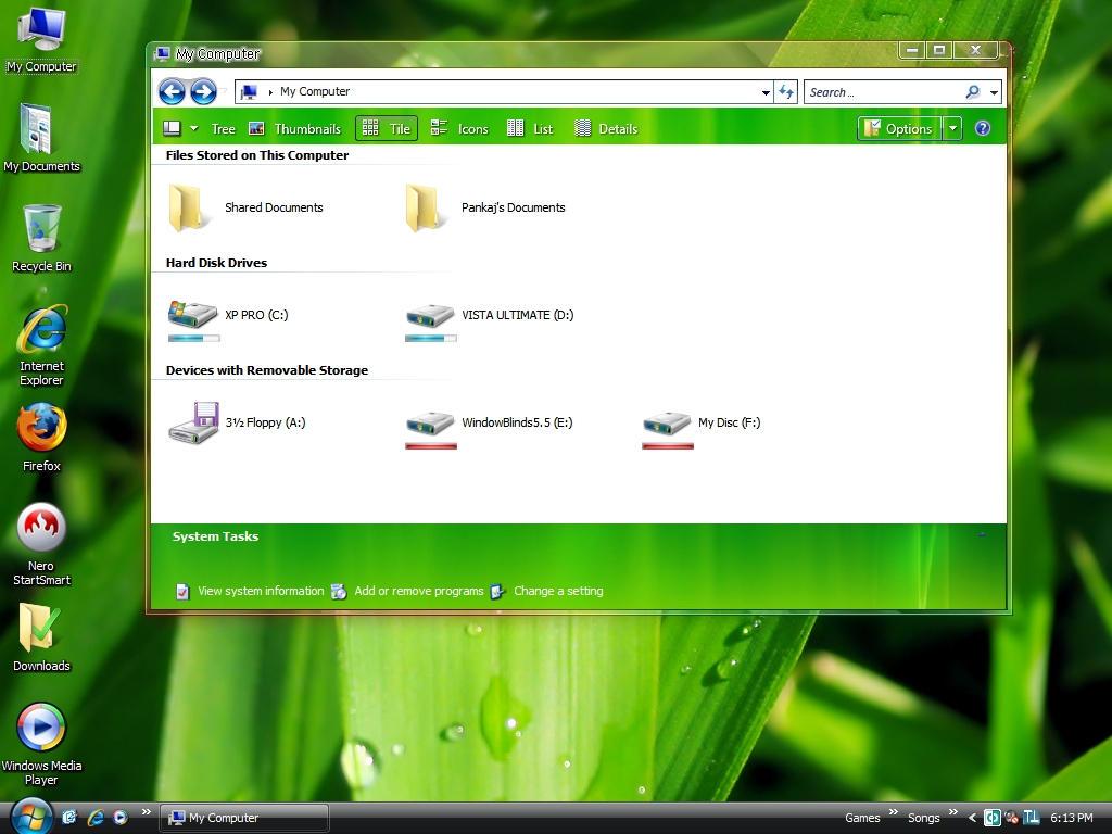 GREEN AERO SHELL STYLE FOR XP by pankaj981