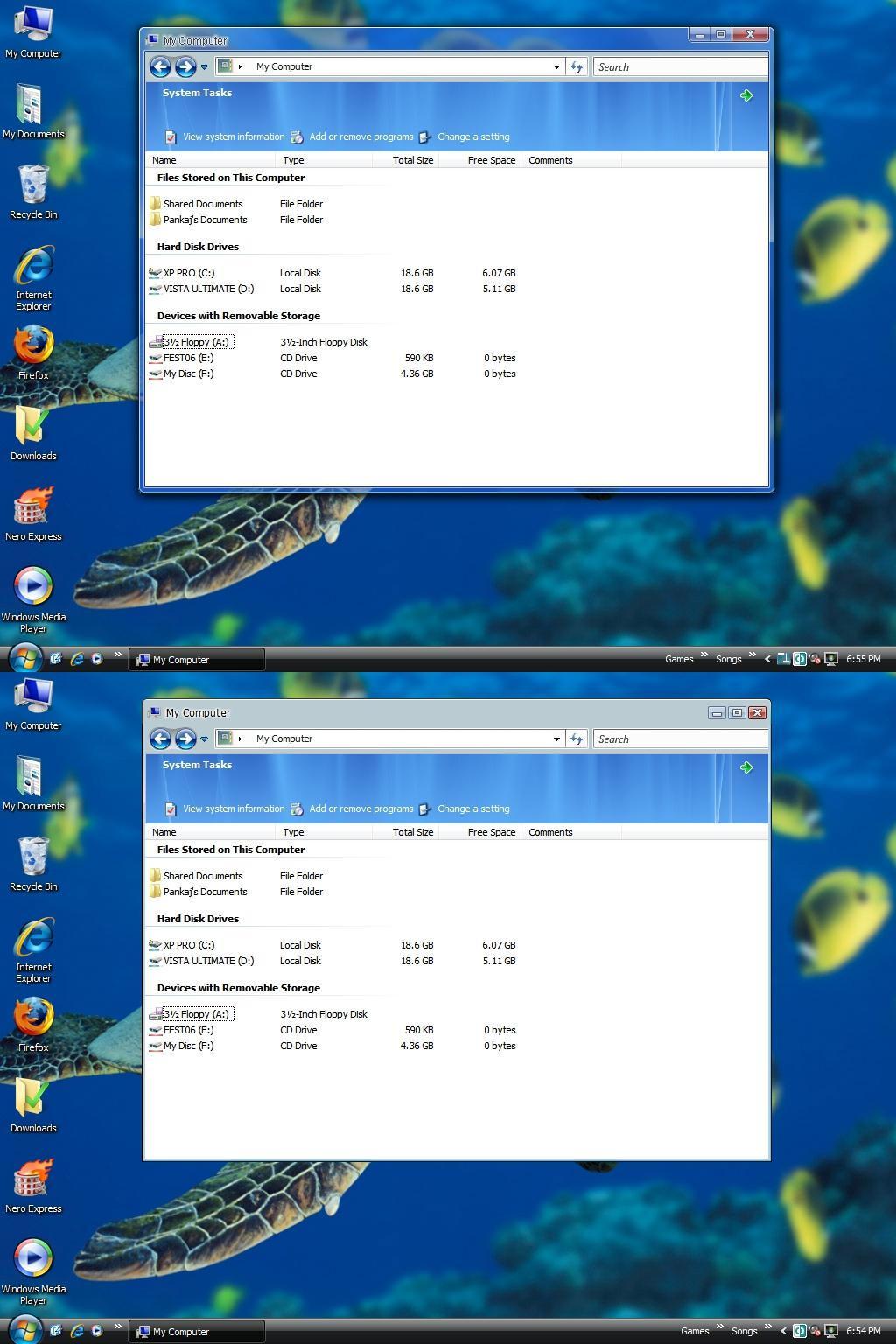 BLUE AERO TOP SHELL VS for XP by pankaj981