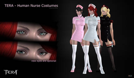 TERA - Human Female Nurse Costumes for XPS by RonDoe
