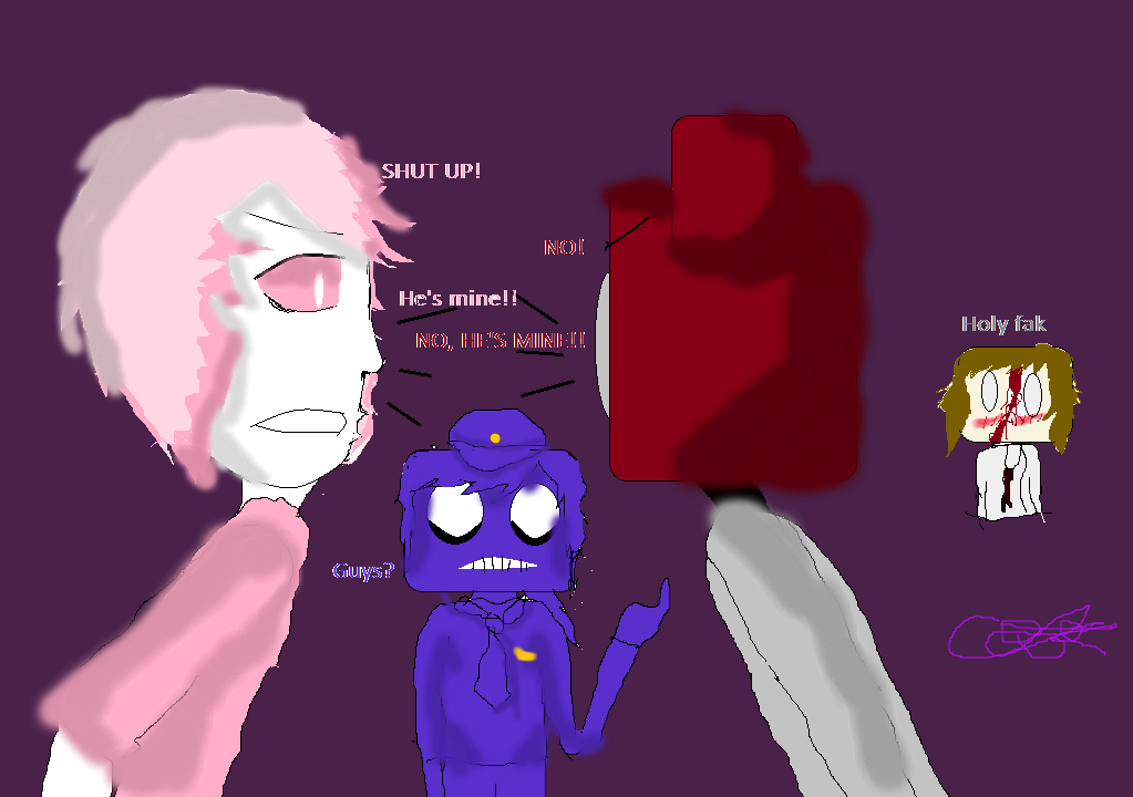 Phone guy vs pink diamond gift for ghostfacenikol by rosebudofdeath