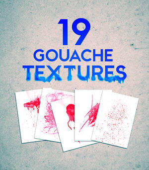 Gouache texture pack by Iskander1989