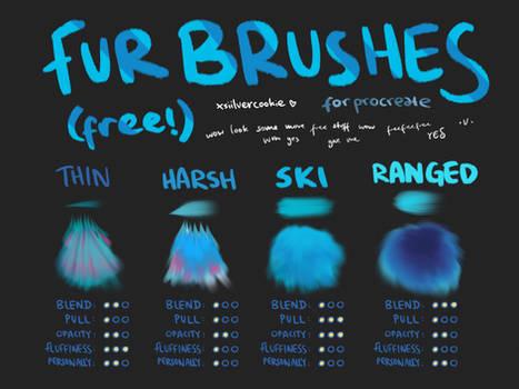 procreate fur brushes // free!