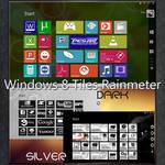 Windows 8 Tiles Rainmeter : Colors, Dark, Silver