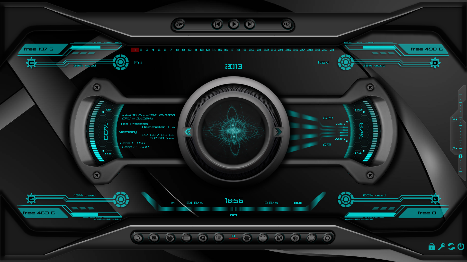 Animated 3d wallpaper jarvis interface - T R A N F O R M E X Mod 1366x768 1920x1080 By Zakycool Shield Jarvis Ui