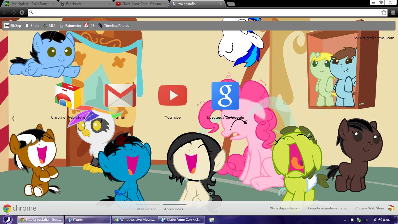 Google chrome themes gallery 2012 -  Pinkie S Nightmare Google Chrome Theme By Liatlns