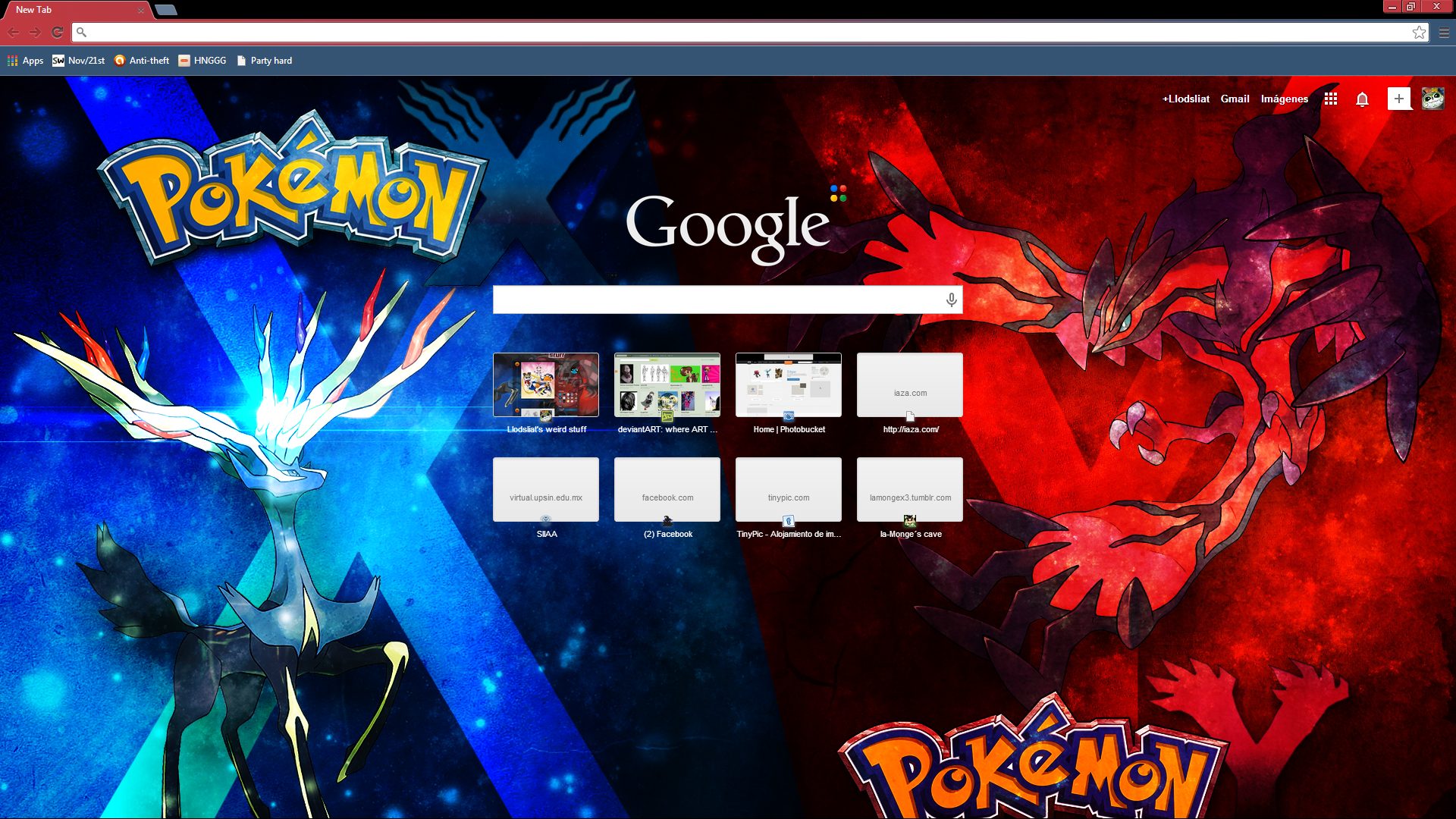 Google themes red