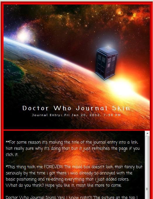 Doctor Who Journal Skin by Eternal-Skye