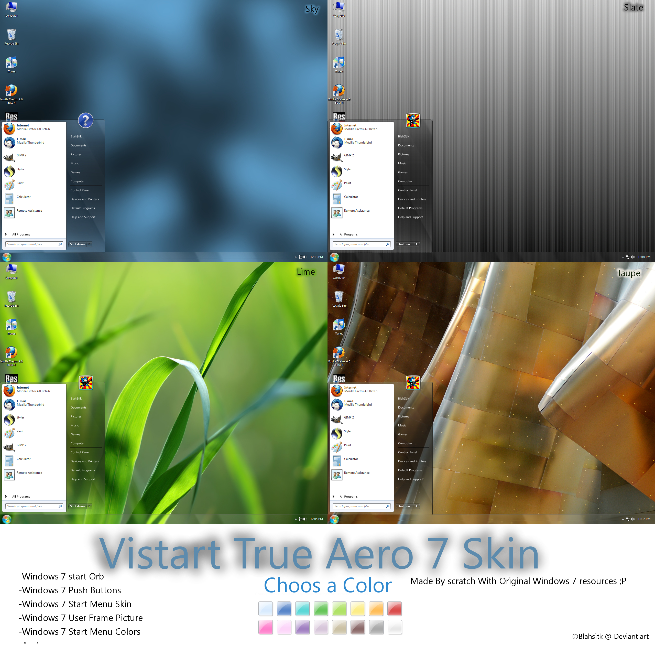 Vistart True Aero 7 skin
