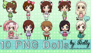 Pack#3 10  Cute Png Dolls by Dolly Tutoriales