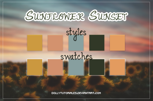 Sunflower Sunset by DollyTutoriales by DollyTutoriales