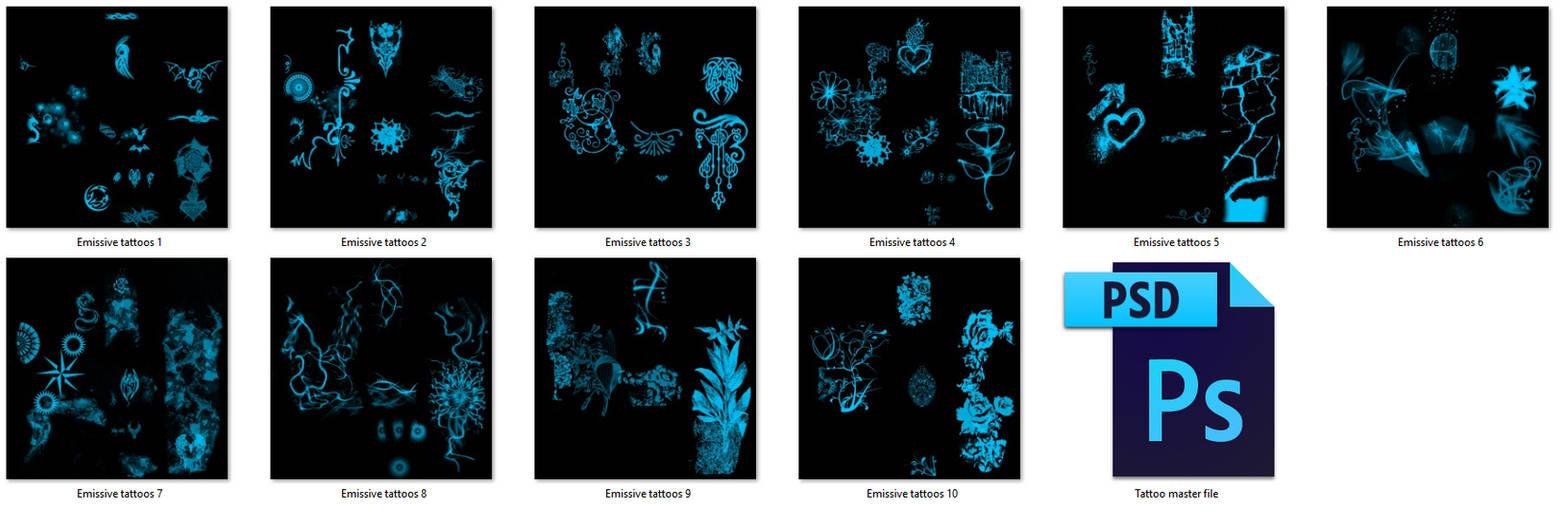 TDA styled Emission Tattoos 10 pack! by Alease-VR on DeviantArt