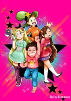 Cartoon Crossovers: The Stars! (Speedpaint) by Asia-Simone