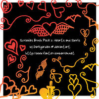 Scribble Pack 2: Hearts Swirls by darkgarden