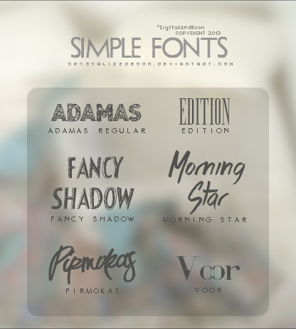 Simple Fonts by CrystalizedBoon