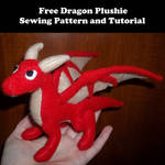 Dragon Plushie Sewing Pattern and Tutorial