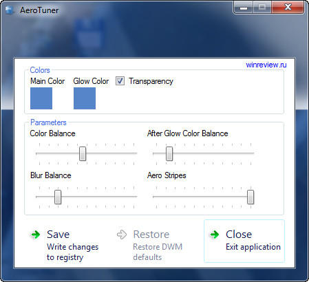 how to change the color of aero windows 7