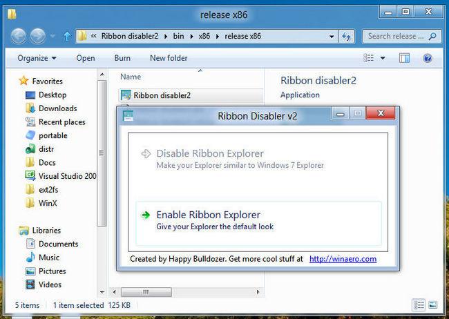 Ribbon Disabler for Windows 8