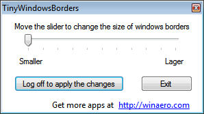 Tiny Windows Borders for Windows 8