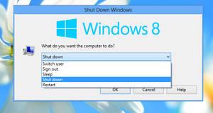 Shut Down Windows dialog for Windows 8